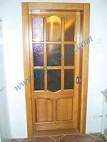 Двери из дуба под стекло