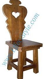 Массивный дубовый стул